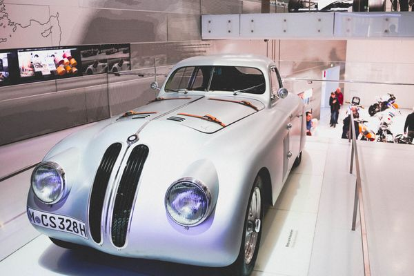 How The BMW Museum Takes You On An Upward Winding Tour Of The Many Accomplishments Of  World famous Auto Maker.