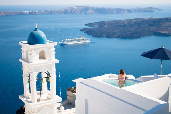 Santorini Thira, Greece.