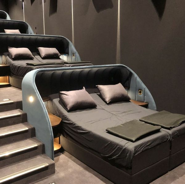 This Swiss Theater Has Reclining Beds Instead of Seats—and Unlimited Snacks