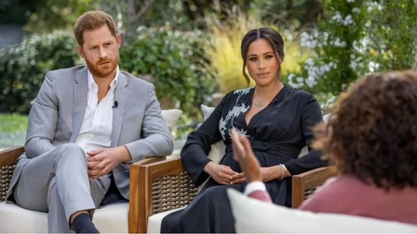 Meghan and Harry: 'We did everything we could' to stay' Prince Harry and his wife Meghan Markle during the interview with Oprah Winfrey.