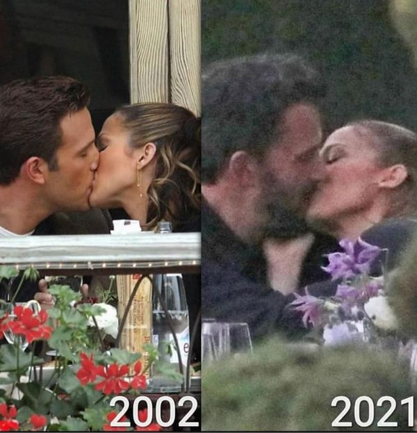 The kiss ! Jennifer Lopez And Ben Affleck Were Pictured Kissing Passionately At A Restaurant In Malibu.